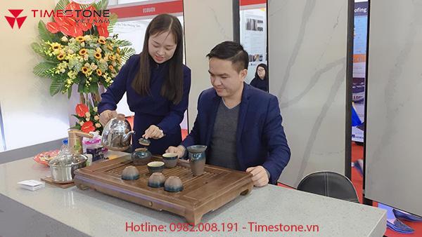 Tìm hiểu sản phẩm đá nhân tạo Empirestone tại Triển lãm Vietbuild 2019