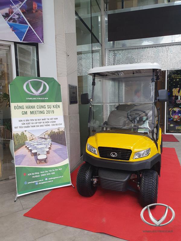 Xe điện Tùng Lâm được trưng bày tại Hội nghị các Tổng giám đốc Hotels & Resorts toàn quốc