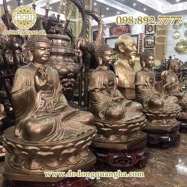 tượng đồng Tam Thế Phật