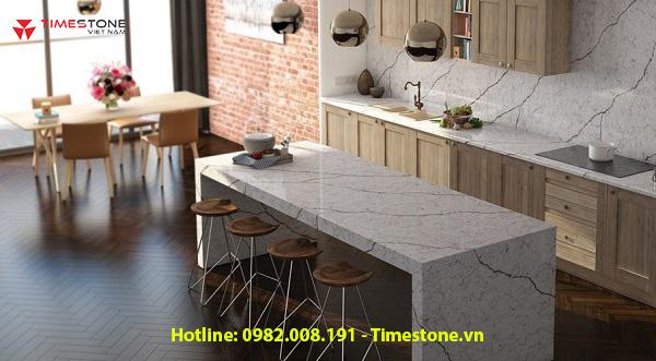 Mãn nhãn với gian bếp có nội thất làm từ đá nhân tạo gốc thạch anh