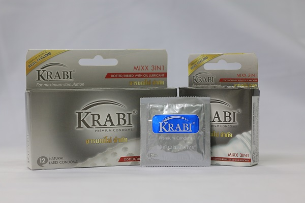 Đốt cháy cuộc yêu với bao cao su gân – gai – gel bôi trơn Krabi