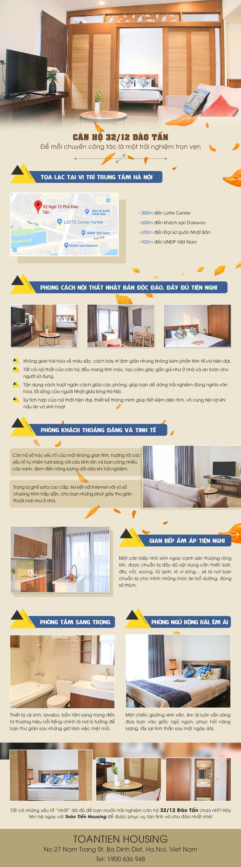 Căn hộ phong cách Nhật của Toàn Tiến Housing: Cho chuyến công tác điểm 10