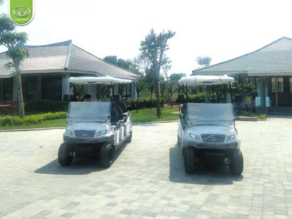2 xe điện 8 chỗ được Tùng Lâm cho Tổng công ty ĐTXD & TM Anh Phát - Thanh Hóa