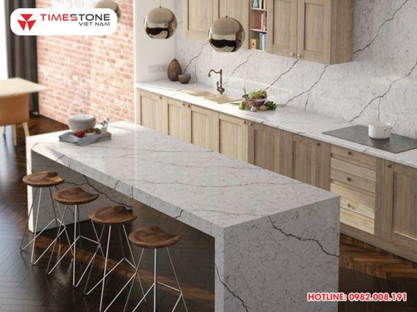 Bật mí lý do khiến đá nhân tạo gốc thạch anh được ưa chuộng hàng đầu trong thiết kế mặt bếp