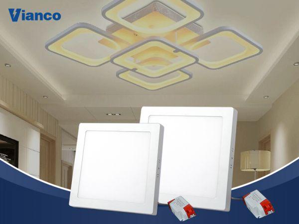 bóng LED ốp trần vuông Vianco