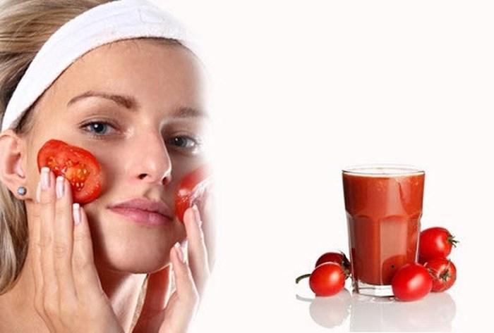 Cách trị vết thâm mụn ở mặt với cà chua