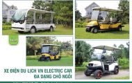 Đa dạng lựa chọn xe điện du lịch của công ty Tùng Lâm