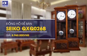 Đồng hồ để bàn Seiko QXQ026B - Nâng tầm không gian sống