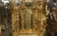 Bài vị thờ bằng đồng trong thờ cúng tổ tiên