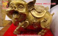 Tượng heo bằng đồng - linh vật phong thủy đem lại may mắn cho gia chủ