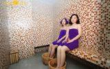 Thư giãn cơ thể với dịch vụ xông hơi đá muối tại Mon Spa