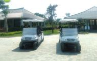 2 xe điện 8 chỗ được Tùng Lâm bàn giao cho Tổng công ty ĐTXD & TM Anh Phát - Thanh Hóa