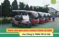 Tùng Lâm bàn giao thành công 5 xe điện VNE.CAR cho Công ty TNHH Lô Hội
