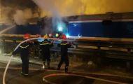Tàu lửa tuyến Bắc – Nam bất ngờ bốc cháy khi qua địa phận Đà Nẵng