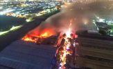 Hiện trường vụ cháy trong Khu công nghiệp Tân Tạo
