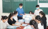 Hình ảnh trường thi hối hả khử khuẩn, chuẩn bị cho Kỳ thi vào lớp 10 ở Nghệ An