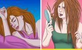 Tại sao chúng ta không nên xõa tóc khi đi ngủ?