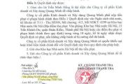 Dự án Thanh Xuân Tower bị xử phạt hành chính