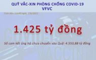 Quỹ vaccine đã có 15 tài khoản tiếp nhận