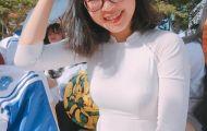 Nữ sinh Đắk Nông hát dân ca trong lễ khai giảng gây