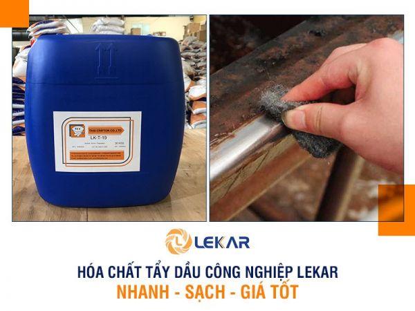 Hóa chất tẩy dầu công nghiệp LEKAR - Làm sạch ngay mọi chất dầu mỡ trên bề mặt kim loại